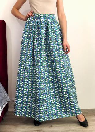 Шикарная пышная юбка макси на высокой посадке7 фото