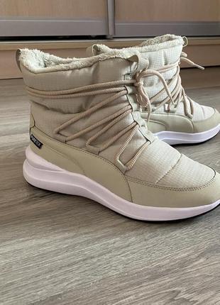Тёплые ботинки puma 23,5 см