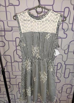 Платье с вышивкой monteau los angeles