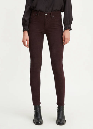 Вельветовые джинсы с высокой посадкой