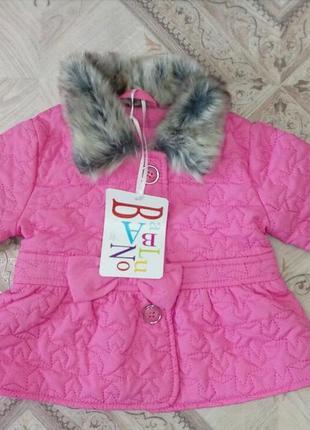 Легкая весенняя куртка фирмы babaluno 0-3мес