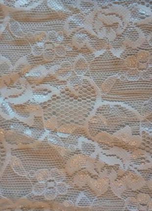 Белая ажурная короткая блуза с рукавами c кроп топ гипюр нарядная футболка сетка4 фото