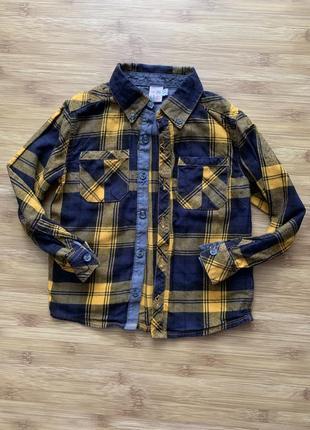 Крутая рубашка mini club 4-5 лет 104-110 см