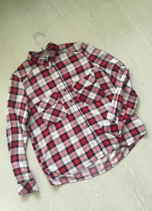 Рубашка в клетку bershka