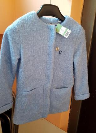Пальто детское на рост 134