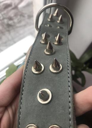Ошейник кожаный с шипами для собаки collar