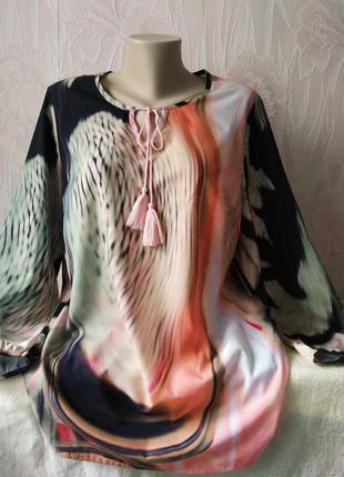 Блуза/туника в стиле тай дай большого размера