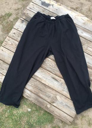 Хлопковые трикотажные спортивные брюки штаны