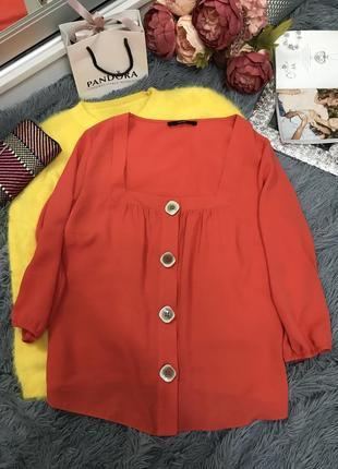 #розвантажуюсь красивая коралловая блуза с модными пуговицами george