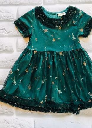 I love next стильное платье на девочку 1,5-2 года
