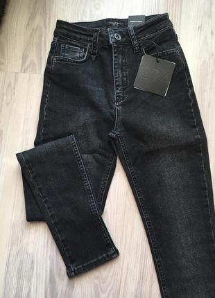 Модные джинсы скинни, американки высокая талия 26-30р как zara