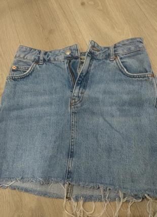 Джинсовая юбка,юбка topshop