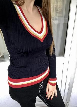 #розвантажуюсь джемпер с v образным вырезом, реглан, пуловер guess