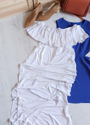 Белое макси платье boohoo