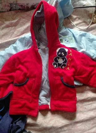 Велюровая кофточка курточка на 1-2 года