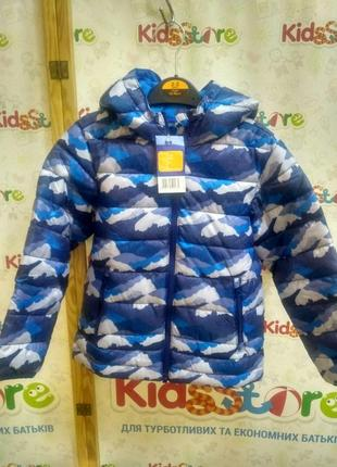 Куртка демісезонна синя з принтом для хлопчика, lupilu, 313993