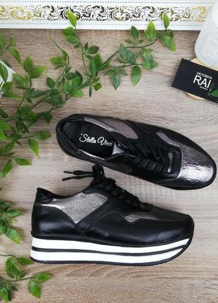 🌿37🌿натуральная кожа. стильные кроссовки на платформе