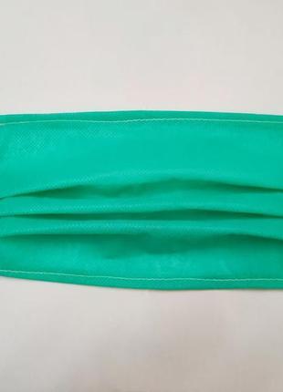 Одноразовые защитные трёхслойные маски для дица из медицинского спандбонда упаковка 10 шт.