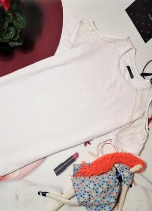 Модное платье-туника с открытыми плечами atmosphere, хлопок, размер 10/38