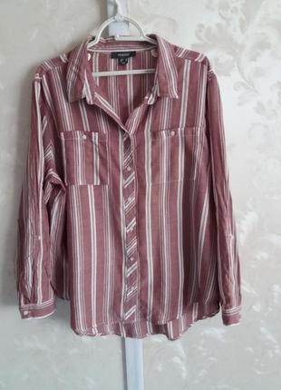 Хлопковая рубашка в полоску primark большой размер