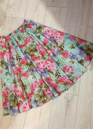 Роскошная цветочная юбка damart