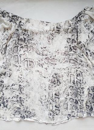 Блуза топ с открытыми плечами river island, актуальный змеиный принт