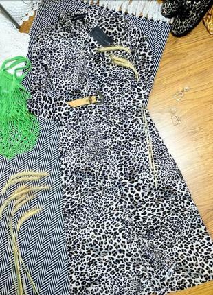 Платье макси в леопардовый принт