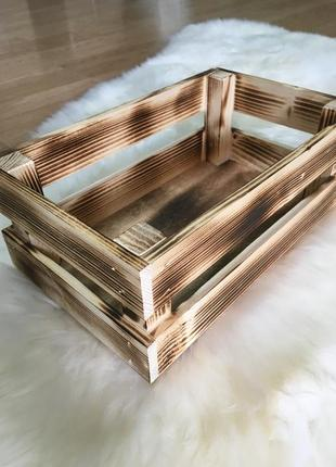 Стильный деревянный ящик для хранения
