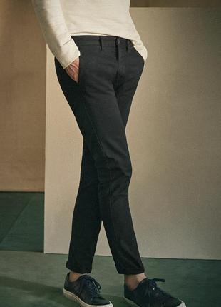 Укороченные брюки чиносы слаксы slim fit хлопок от h&m