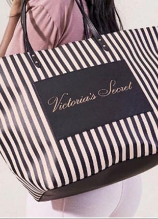 Полосатая сумка шопер victoria's secret