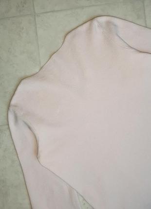 1+1=3 нежно-розовый плотный свитер marks&spencer с вышитыми рукавами, размер 46 - 482 фото