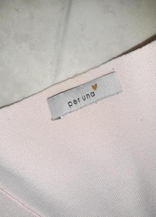 1+1=3 нежно-розовый плотный свитер marks&spencer с вышитыми рукавами, размер 46 - 488 фото