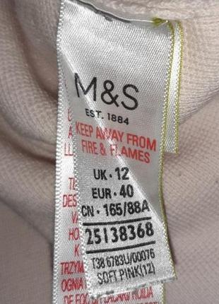 1+1=3 нежно-розовый плотный свитер marks&spencer с вышитыми рукавами, размер 46 - 487 фото