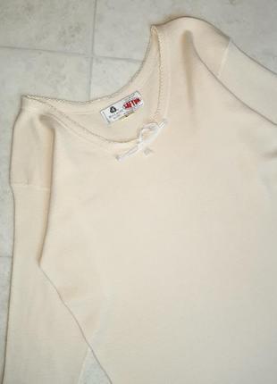1+1=3 бежевый теплый шерстяной свитер 75% шерсть woolmark blend, размер 48 - 504 фото