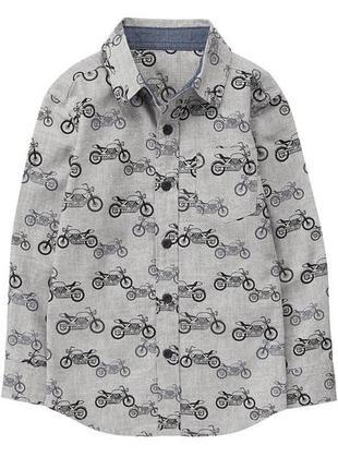 Бавовняна сорочка, р.134-140, gymboree, сша / рубашка
