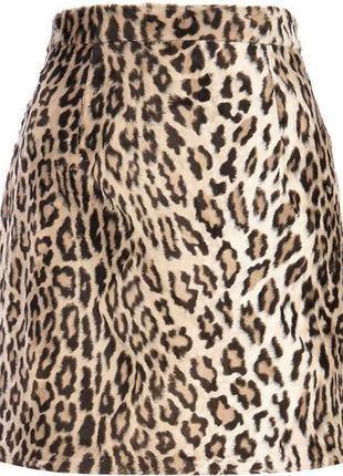 Леопардовая мини юбка №63
