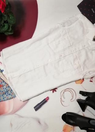 Рубашка h&m, лен и хлопок, размер s