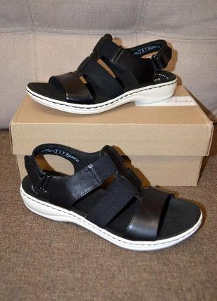 Кожаные босоножки сандалии clarks leisa 6.5us 37 размер 24.5 см