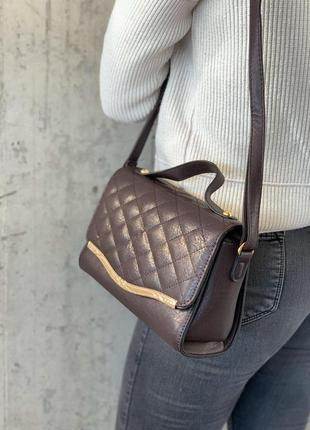 Стильные женские сумки коричневая
