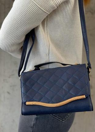Стильные женские сумки синяя