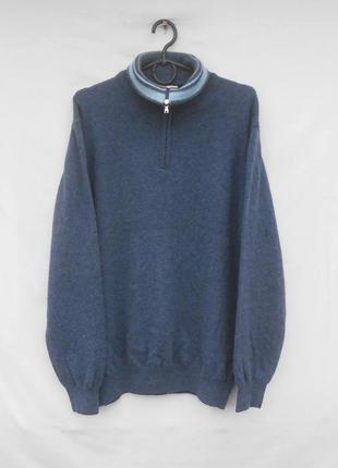 Теплый итальянский шерстяной свитер на молнии 3/4 мelaverde