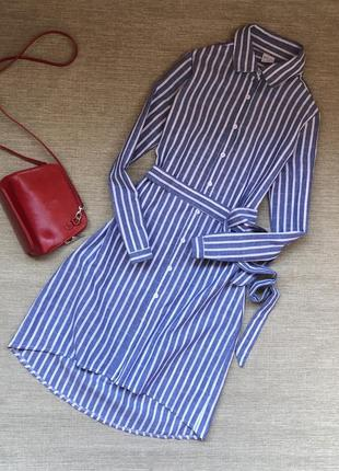Платье-рубашка из натурального хлопка