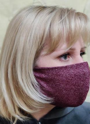 Защитная многоразовая маска с фильтрами из спанбонда.