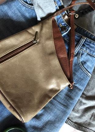 Шкіряна сумочка кросс-боді