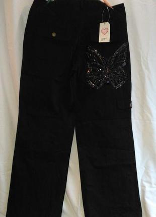 Красивые женские брюки жгуче черного цвета  ( lovse )