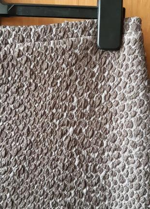 Красивая трикотажная фактурная юбка в леопардовый принт2 фото