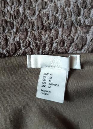 Красивая трикотажная фактурная юбка в леопардовый принт4 фото