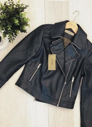 Черная стильная куртка-косуха