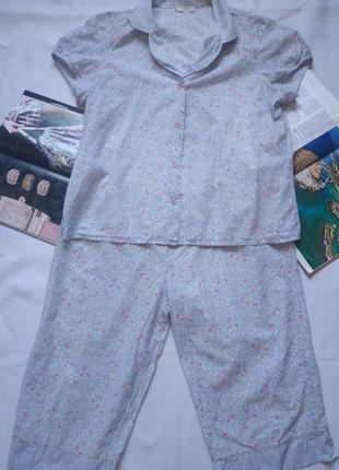 "Лёгкая летняя пижама (рубашка + бриджи) ""marks & spencer"""