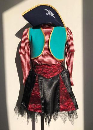 Пиратка 3-6 лет костюм карнавальный